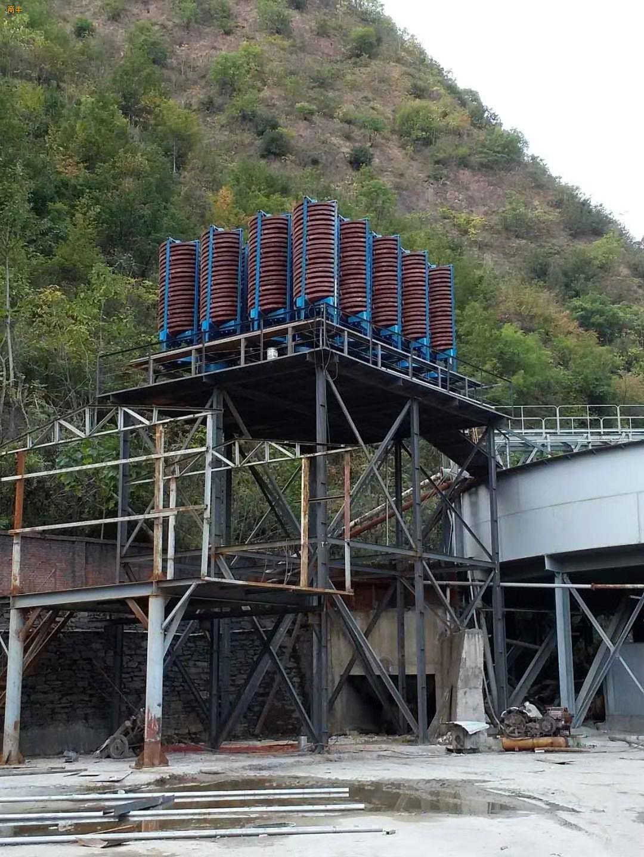 陕西出售螺旋溜槽BLL1500型螺旋溜槽煤泥重选溜槽