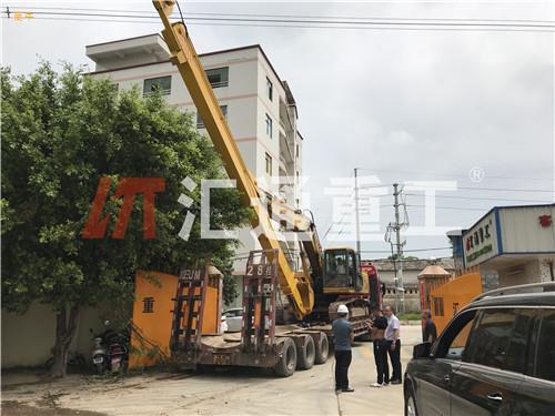 广西橡树采集挖掘机伸缩臂小松卡特挖机定做20米三段式伸缩臂