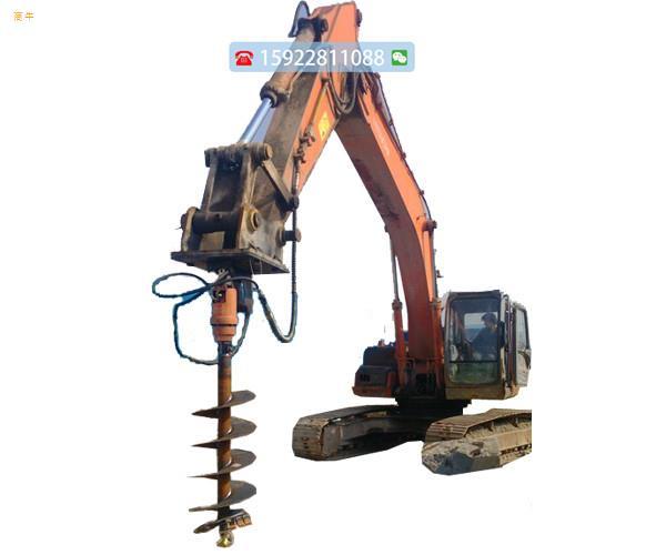 重庆现货旋挖钻机小型螺旋钻机挖坑机电线杆挖坑机