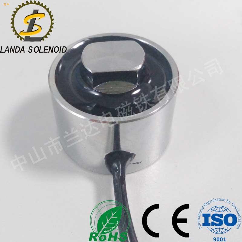 直流圆形吸盘式通孔电磁铁HY3825