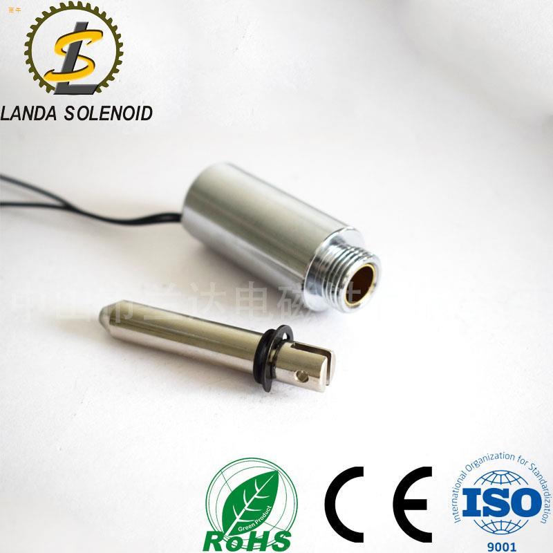 厂家直销圆管推拉式电磁铁TU2551行程10mm