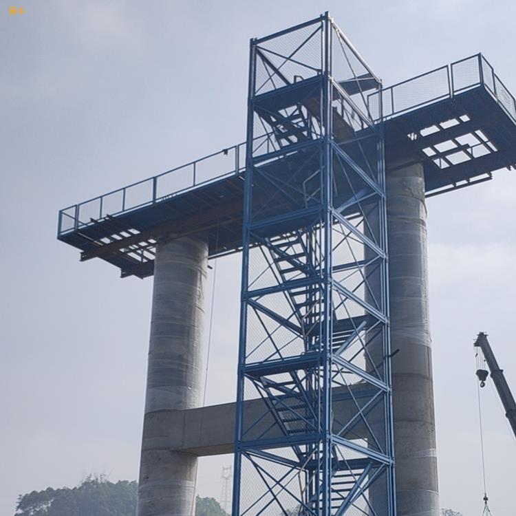 高墩施工梯笼框架式梯笼挂网梯笼